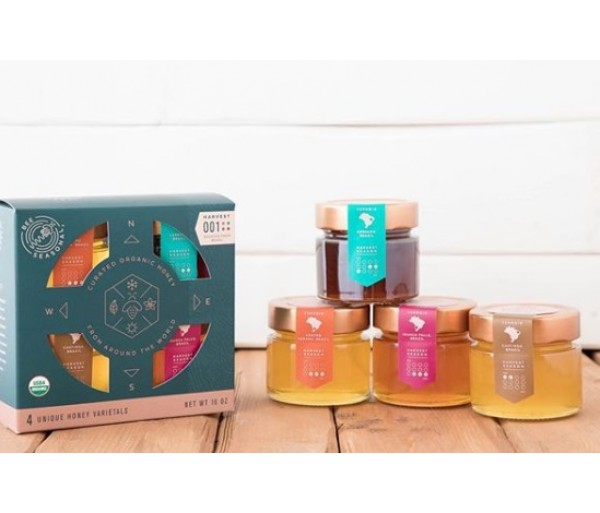Bee Seasonal Honey - Box with 4 unique honey varietals