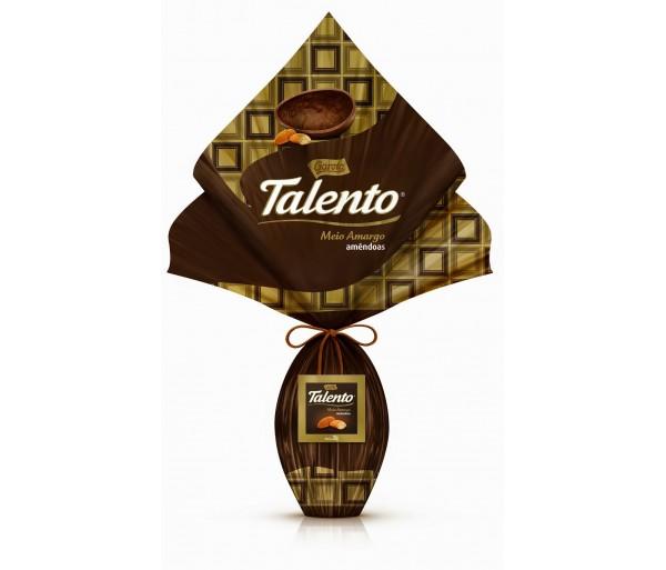 Ovo de Páscoa Talento Meio Amargo com Amendoas 225g