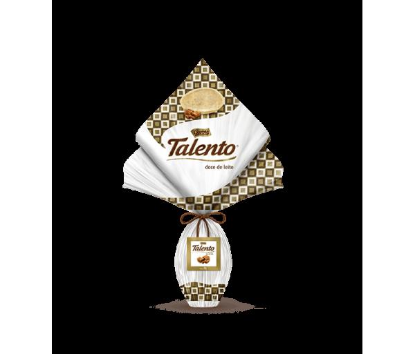 Ovo de Páscoa Talento Branco com Doce de leite 350g