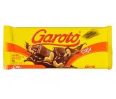 Chocolate ao leite com castanha de caju Garoto Tablete 150g