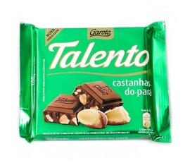 Chocolate Talento castanhas-do-pará 90g